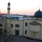 Blick vom Zimmer auf die Moschee