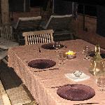 soirée sur la terrasse