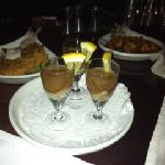 Oyster Shooters, BBQ Shrimp & Crabcakes
