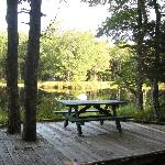 Mersey River Chalets Boardwalk Picnic Table