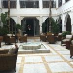 the centre of the beautiful riad