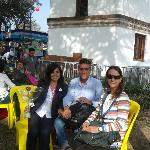 We and Rosa, staff of the hotel at the Mistura