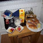 Continental Breakfast delivered to our room the evening prior to an early day-tour start