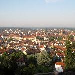 Blick auf Ansbach von unserem Balkon