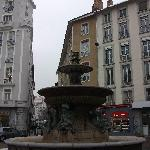 Fountain in old Grenoble