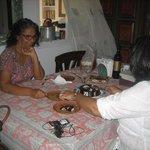Asha shares her birthday cake with us