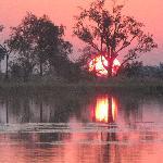 a prefect African sunset