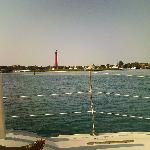From the bow of the sailboat