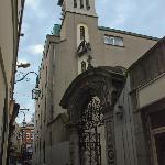 The Church is located off a small lane