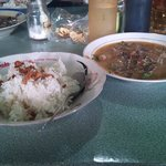 Soto Bang Ali served with rice