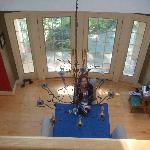 kitchen table viewed from 2nd floor.  This is where you will have awesome breakfast!