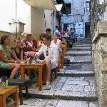 stairway cafe/bar near Hotel Slavija