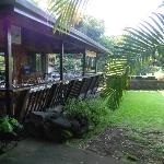 outdoor lanai to eat breakfast at