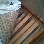 slats broken and mattress soiled :(