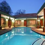 Rooms around heated pool