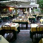 The garden setting makes the place very dramatic to enjoy a sumptuous Italian dinner.