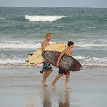 Surfers on Ormond Beach