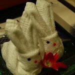 Lovely rabbit towels