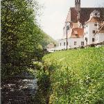 An older photo scanned in from 1995 with the small Erlauf creek running by