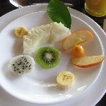 First course featuring Ecuadorian fruits