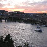 Pittsburgh sunset from our room