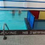 Wading pool and main pool