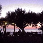 Late sunset at Flisvos Taverna