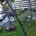 Looking at the Lagoon and Royal Kona Resort