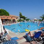The main pool and bar