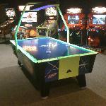 Arcade with 2 air hockey tables!