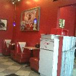 Nate's Diner Red and White Booths