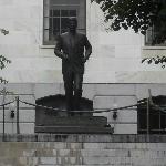 John F. Kennedy im Garten