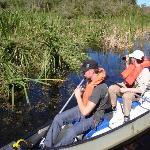 Canoe tour through the marsh