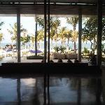 Foyer looking out to sea - Photo does not do this justice.