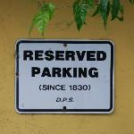 Rabbi's Parking space since 1830