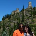 Hiking up to Chateau de Lastours
