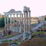 Roman Forum seen from Capitoline Hill - Image of Tiber Limo Rome, Italy