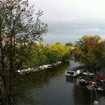 View over the canal from our room.