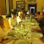 Dinner with new friends in elegant surroundings