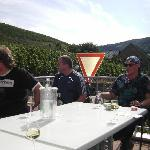 With some friends on the terras of Weinschroterhof