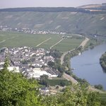 A view on Neumagen-Dhron and Trittenheim taken from a waterpark above Leiwen
