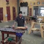 Maori woodworking