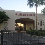 Front of Marriott Beach