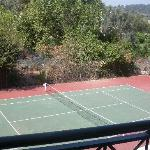Tennis court view from our room