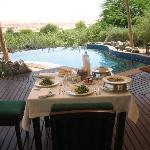 Pranzo a bordo piscina privata