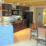 View of villa kitchen/dining