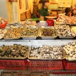 the selection of seafood