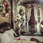 The Red Bedroom at Christmas