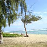 plage devant l'hôtel