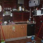 cocina de la cabaña